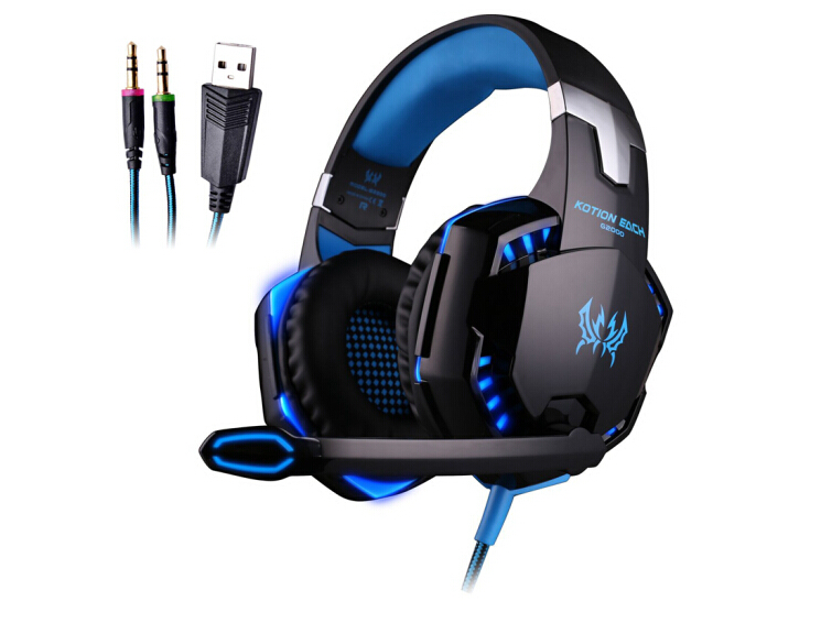 G2000 stereo gaming headset ps4 pc for computer with microphone LED Light Deep Bass gamer headphones original xiberia v2 led gaming headphones with microphone mic usb vibration deep bass stereo pc gamer headset gaming headset