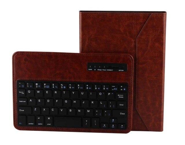 Для Ipad Apple , мини 1 2 3 планшет crazy-лошадь съемный беспроводная связь Bluetooth россии / иврит / испанский клавиатура стенд PU кожаный чехол
