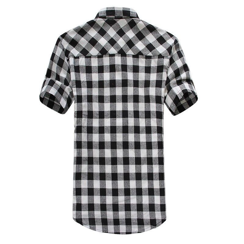Black And White Plaid Shirt Mens 62