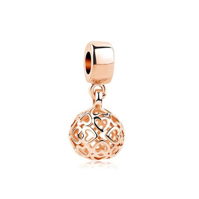 Посеребренные бусины очаровательные милые животные розовое золото
