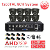 Home CCTV 8CH DVR 720P 1200TVL 1 0MP Day Night IR AHD Security Camera System DIY