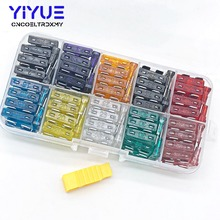 100pcs High Quality Car fuse Box Standard Medium Fuse Blade Box, Auto 2A 3A 5A 7.5A 10A 15A 20A 25A 30A 35A