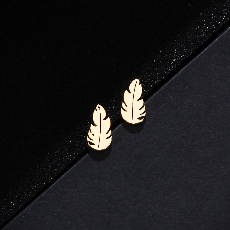 CACANA Stainless Steel Sets For Women Feather Shape Necklace Bracelet Earring Jewelry Lover's Engagement Jewelry S379 15