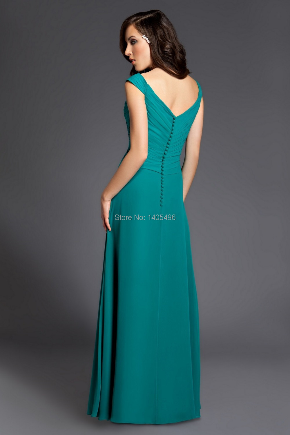 Glamorous Chiffon Bridesmaid Dresses Prom Dress with Off Shoulder ...