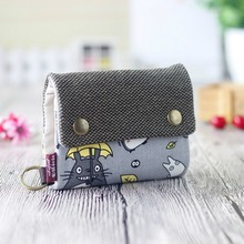 My Neighbor Totoro Soft Canvas Short Wallet Pouch Money Bags Coin Purses