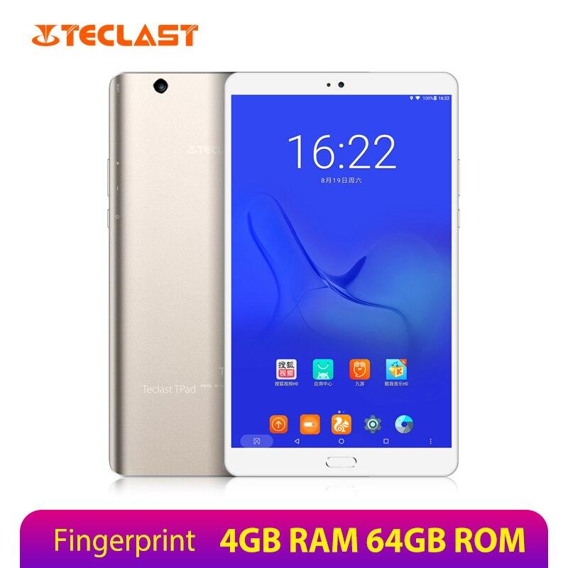 Teclast Master T8 Android 7.0 Tablets PC 8.4 Inch 2560*1600 IPS MTK8176 Hexa Core 4GB RAM 64GB ROM Fingerprint Dual WiFi 13.0MP