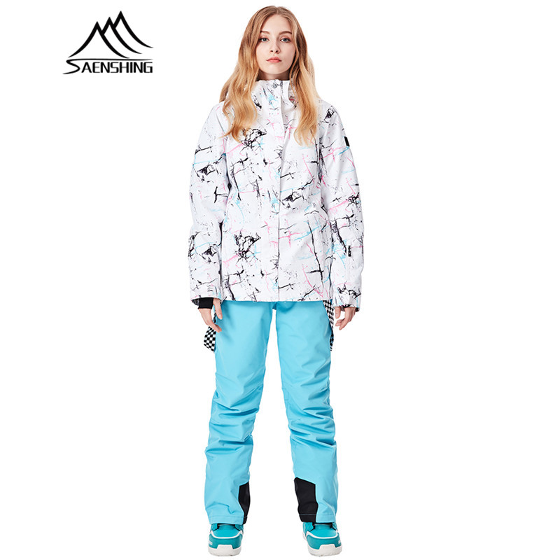 Ski Suit Women Winter Suit Waterproof Outdoor Sport Breathable Women's Snowboard Jacket+Skiing Pants for Mountain Skiing Snow saenshing ski suit women winter suit waterproof breathable women s snowboard jacket skiing pants for mountain skiing snow sets