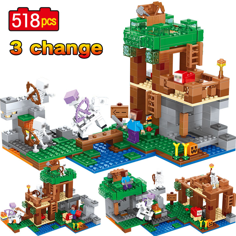 New My World Building Blocks Sets Legoingly Minecraft 21146 Skeleton Attack Figures Educational Bricks Kids Toys Christmas Gifts 20cm ogrum 44007 robot brain attack hero factory 5 0 star soldier action figures model building bricks blocks kids toys gifts