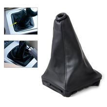 DWCX New PU Leather Gear Stick Shift Knob Cover Boot Gaiter for Hyundai Elantra Avante XD 2002 2003