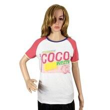 Nouveau 2017 Femmes t-shirt Printemps Vacances D'été O-cou Femmes à Manches courtes T-shirt Coco Dames De Mode Lâche Femmes Tops tee-shirt(China (Mainland))