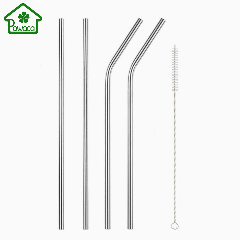 4Pcs/Set Elegant Polished <font><b>Stainless</b></font> Steel Drinking Straw with Cleaning Brush for <font><b>20</b></font>/30 <font><b>oz</b></font> <font><b>Yeti</b></font> <font><b>Cups</b></font> Rtic <font><b>Rambler</b></font> <font><b>Tumblers</b></font> Mugs