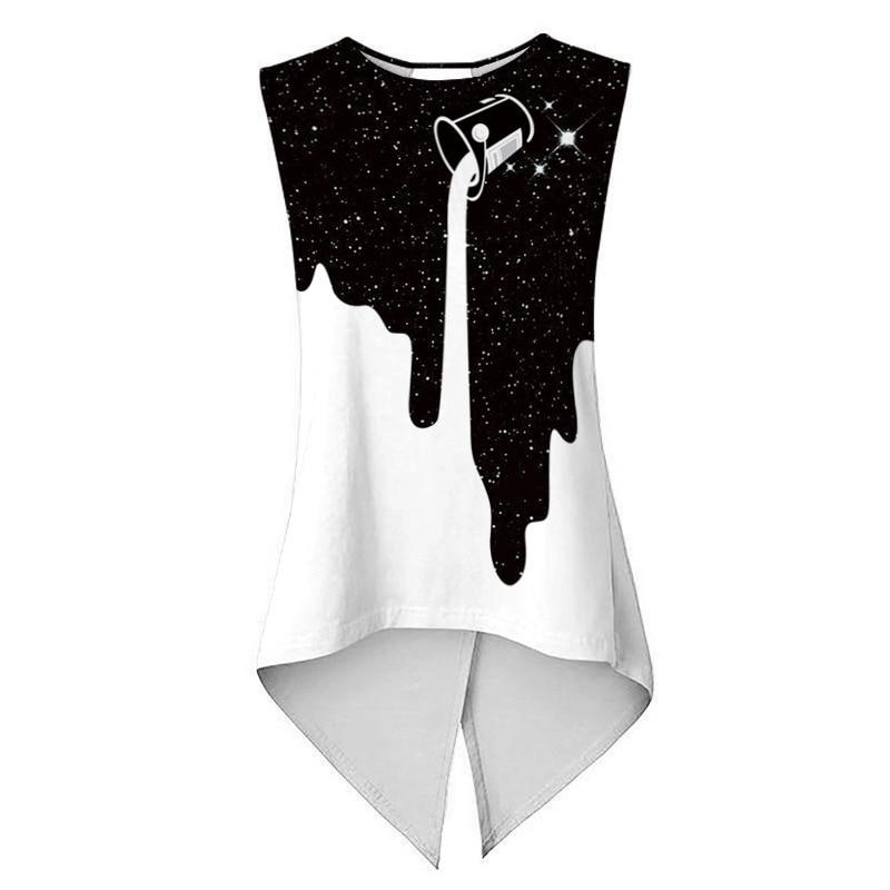 Summer Women Yoga Shirt Milk Star Print Female Sport Vest Fitness TShirt Quick Dry Crop Blouse Cross Tank Tops Running Sportwear