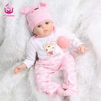50 55CM SOFT Silicone Reborn Baby Dolls Handmade Cloth Body Reborn Babies Doll Toys Play House