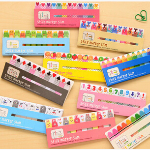 New cute animals style number sticky notepad / animal Memo / message post stick marker / label