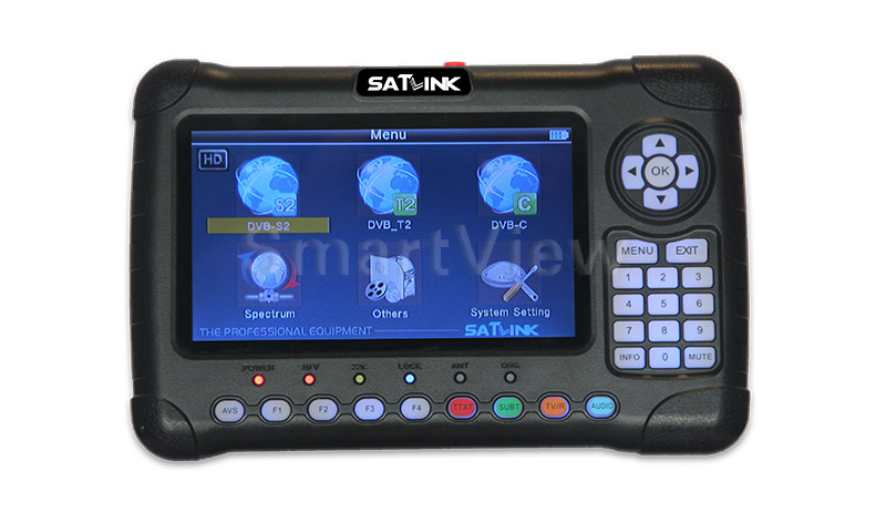 Satlink WS-6980 Digital Satellite Finder DVB-S2 DVB-C DVB-T/T2 Combo Detection Spectrum Analyzer Constellation Meter WS6980 6980 satlink ws 6979se satellite finder meter 4 3 inch display screen dvb s s2 dvb t2 mpeg4 hd combo ws6979 with big black bag