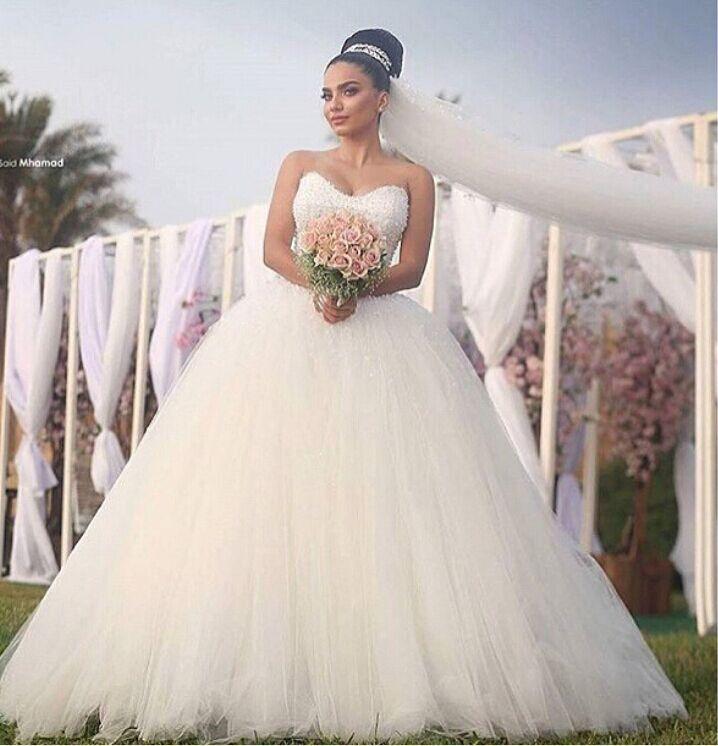 Full Ball Gown Wedding Dresses: Aliexpress.com : Buy Sadek Majed Princess Bride Wedding