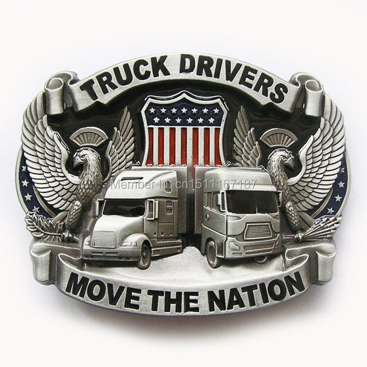 Jeansfriend New Men Belt Buckle Vintage Truck Driver Belt Buckle Gurtelschnalle Boucle de ceinture
