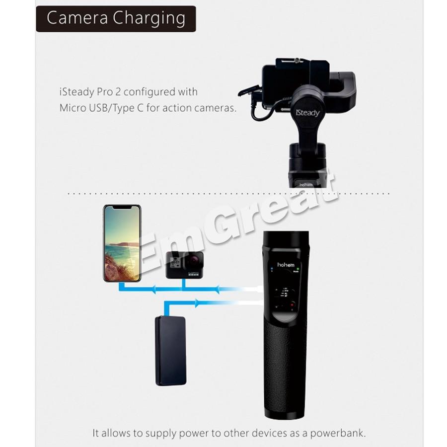 Hohem iSteady Pro 2/Pro брызг 3 осевой ручной однажды для DJI Osmo Экшн камера Gopro Hero 7/6/5/4/3 SJCAM YI экшн камер - 3