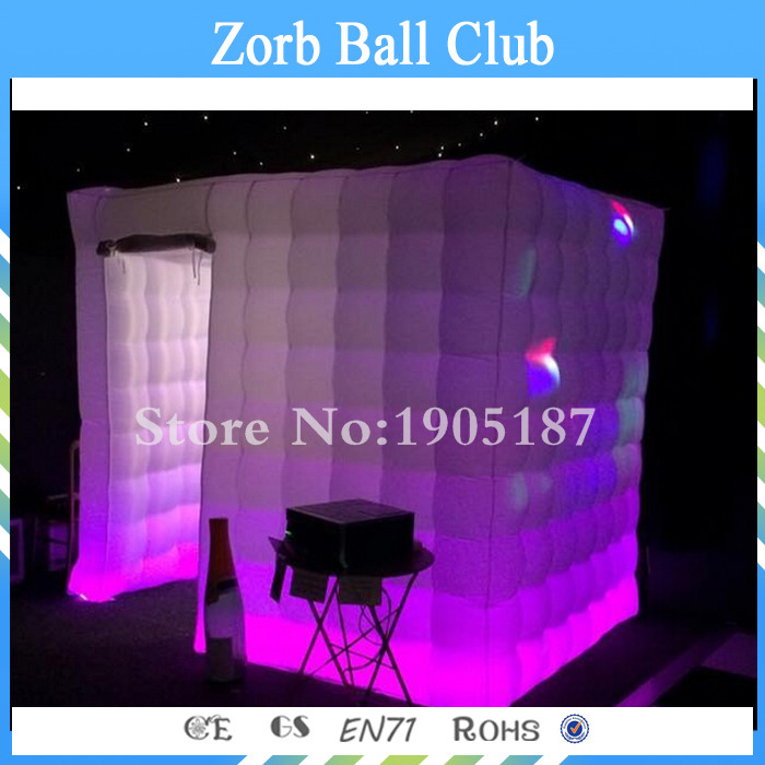 Free Shipping Factory Stock Inflatable Cube Tent Lighting Inflatable Photo Booth With LED free shipping inflatable house shaped cube tent with window for events toy tent