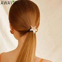Модные женские аксессуары для волос металлические геометрические