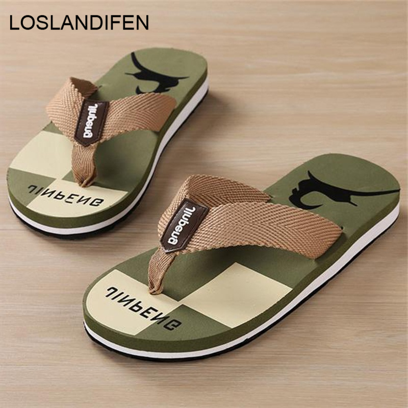 New Arrival Summer Men Flip Flops High Quality Beach Sandals Non-slide Male Slippers Zapatos Hombre Casual Shoes 8H0282 slipper