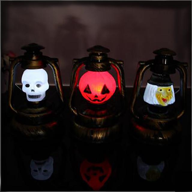 1 Unidades Lamparita Linterna Portátil de Escritorio Estilo Retro Queroseno Lámpara de Flash de Halloween Jack-o-linterna de halloween Bruja Grita Al Por Mayor