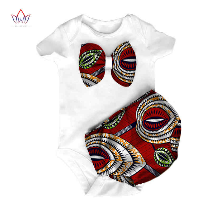 46df45b87 BRW 2018 New Fashion Africa Conjoined Baby Clothing Dashiki Cute Baby  jersey Bazin Flower African traditional
