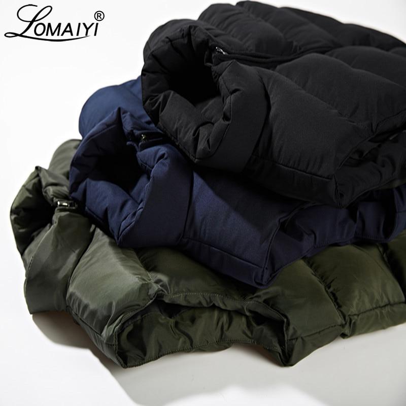 Image 2 - LOMAIYI M 6XL Mens Winter Vest Men Warm Thick Padded Vest Coat Male Sleeveless Jacket Mens Blue/Black Casual Down Vests BM255Vests & Waistcoats   -