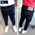 2016 otoño y el invierno de la manera del muchacho caliente de lavar los pantalones vaqueros pantalones delgados de color estándar