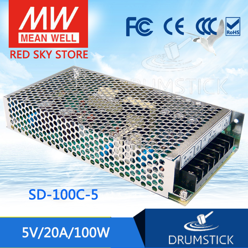 Hot sale MEAN WELL original SD-100C-5 5V 20A meanwell SD-100 5V 100W Single Output DC-DC Converter hot selling mean well sd 350d 5 5v 60a meanwell sd 350 5v 300w single output dc dc converter