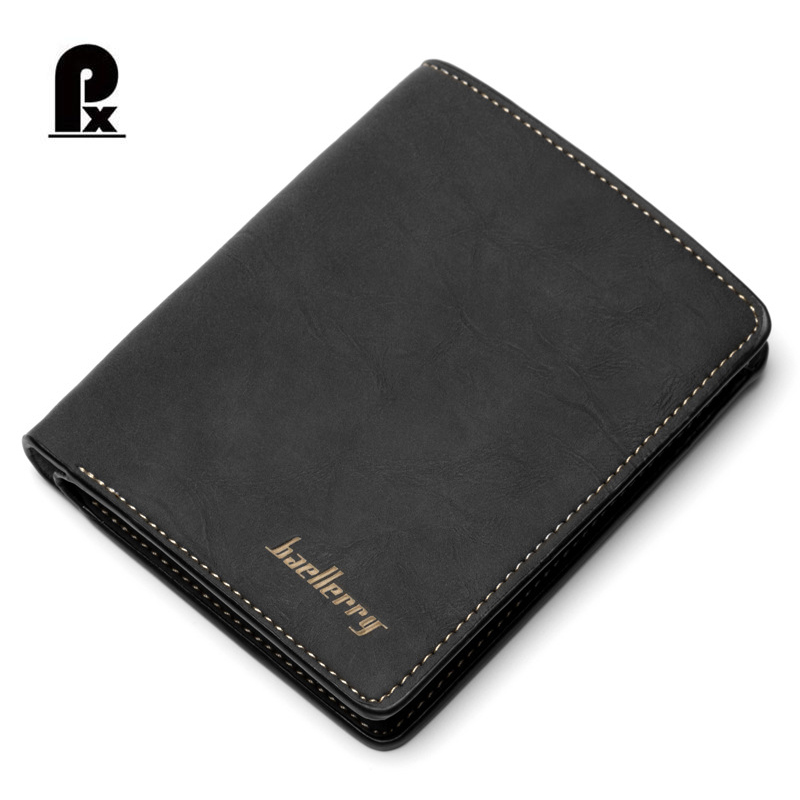 Pacento Mens Bifold Wallet Cheap Men Short Purchase Vintage Style Nubuck Leather Wallet Simple Branded Wallets for Mens Purse zelda wallet bifold link faux leather dft 1857