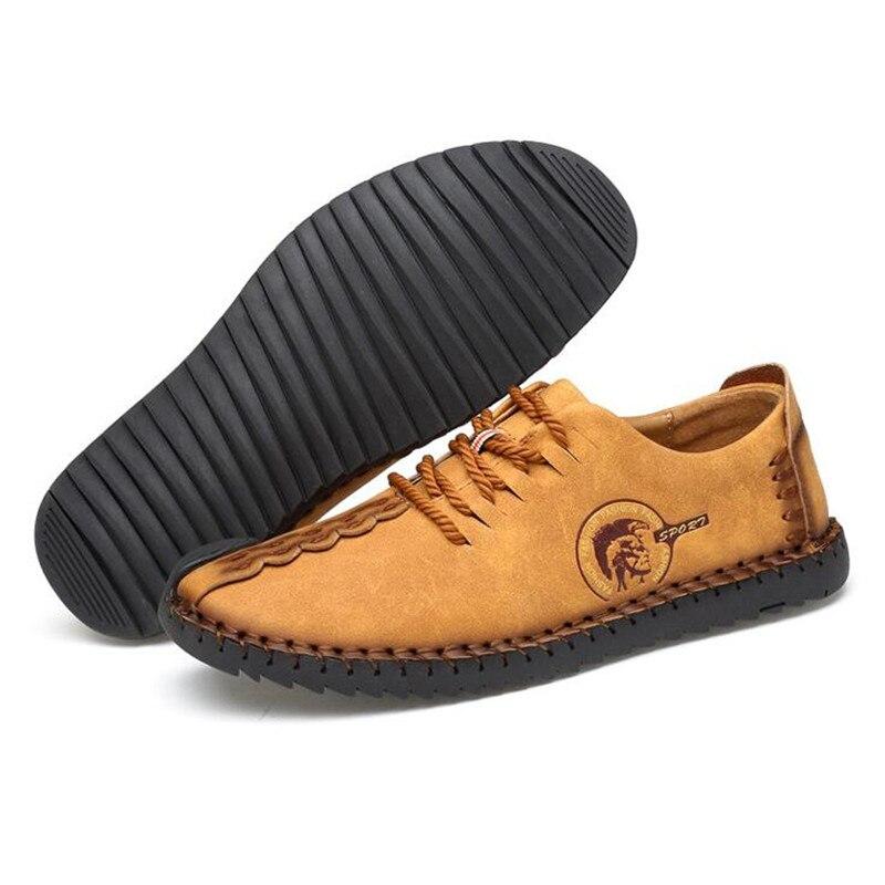 2 1 En Nouvelle Dentelle Véritable 6 Vente Chaude Causal Chaussures 5 3 Hommes 4 Mode 2017 Huarache up Solide Confortable Cuir awZqZz