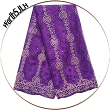 где купить African Nigerian Lace Fabrics In 2019 Purple Lace Fabric Teal Green High Quality Mesh French Net Lace Fabric For Wedding по лучшей цене