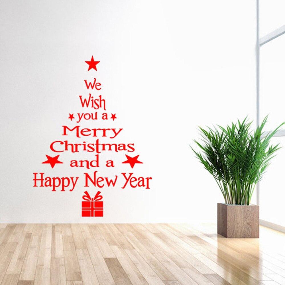 New 1PC Vinyl Removable 3D Wall Sticker Christmas Tree Decals For Christmas Wall Decal Stickers Muraux Adesivi Murali Wall Decor