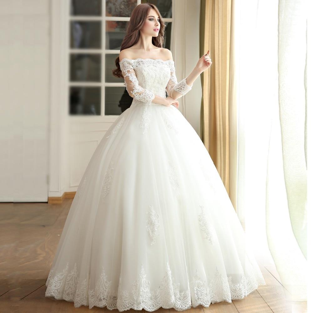 Aliexpress.com : Buy sleeve muslim wedding dress 2016 princess ...
