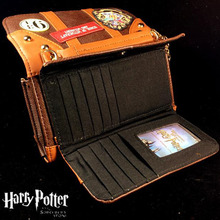 Potter Hogwarts Castle Crest Envelope Satchel Fold Wallet Purse with Tag