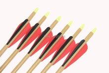 Longbowmaker 12PCS 33 Inches Fiberglass Target Practice Arrows WFG8