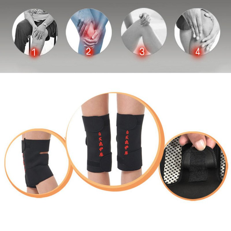 Hot Magnetic Therapy Self-heating Knee Pads Professional Kneepad Protection Tourmaline Health Car Fitness Running Supply 2Pcs