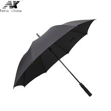 NX largo paraguas hombre y mujer de Negocios Semiautomática Gran strongs prueba de viento paraguas de sol plegable al aire libre