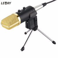 Universal Laptop Computer PC USB Condenser Microphone Sound Studio Recording Mic With Stand Holder Mic