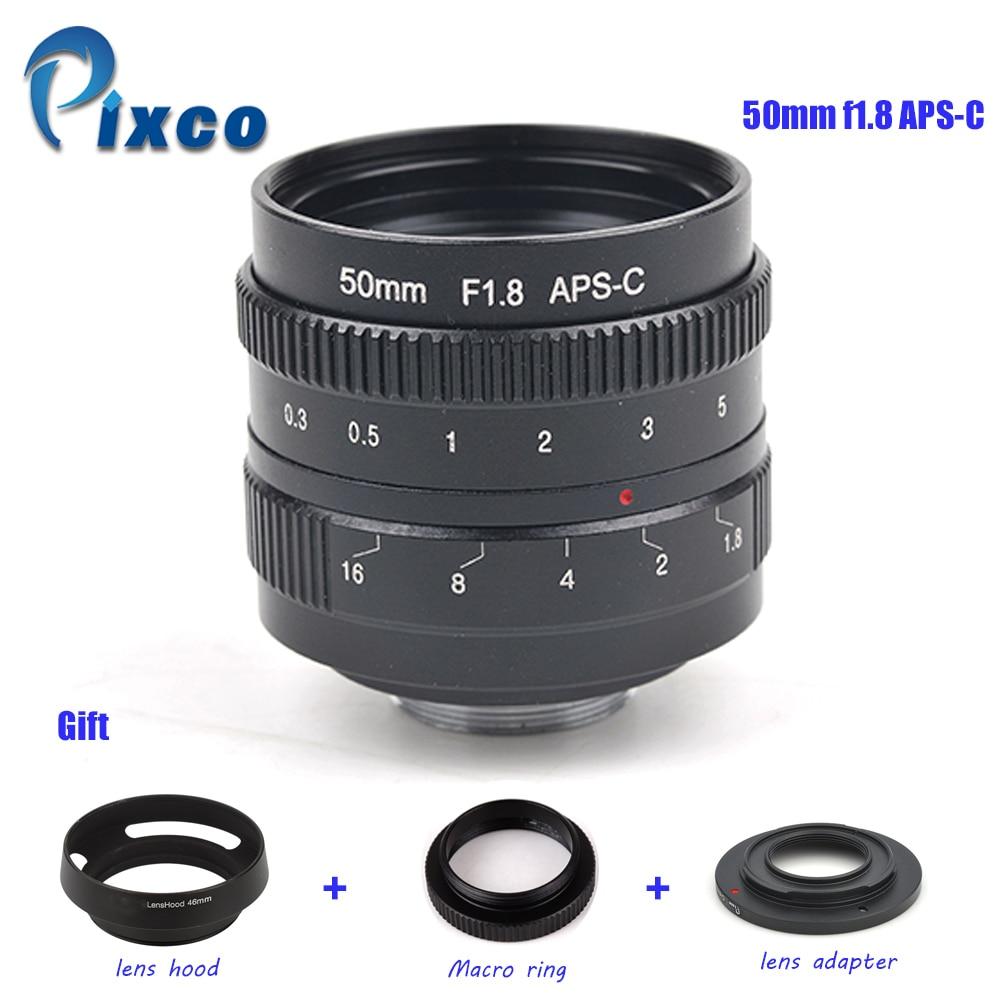 ADPLO APS-C 50mm f/1.8 Lentille + 3 CADEAU pour Nikon 1/MICRO 4/3 Pentax Q Nex Fuji pour canon EOS M caméra M10 M3 M2 M X-T2 X-Pro2