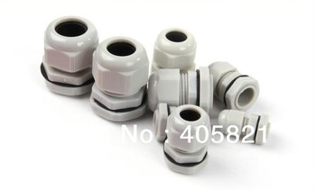PG21 IP68 Light Grey Waterproof Nylon Cable Gland For 13-18mm Cable Range