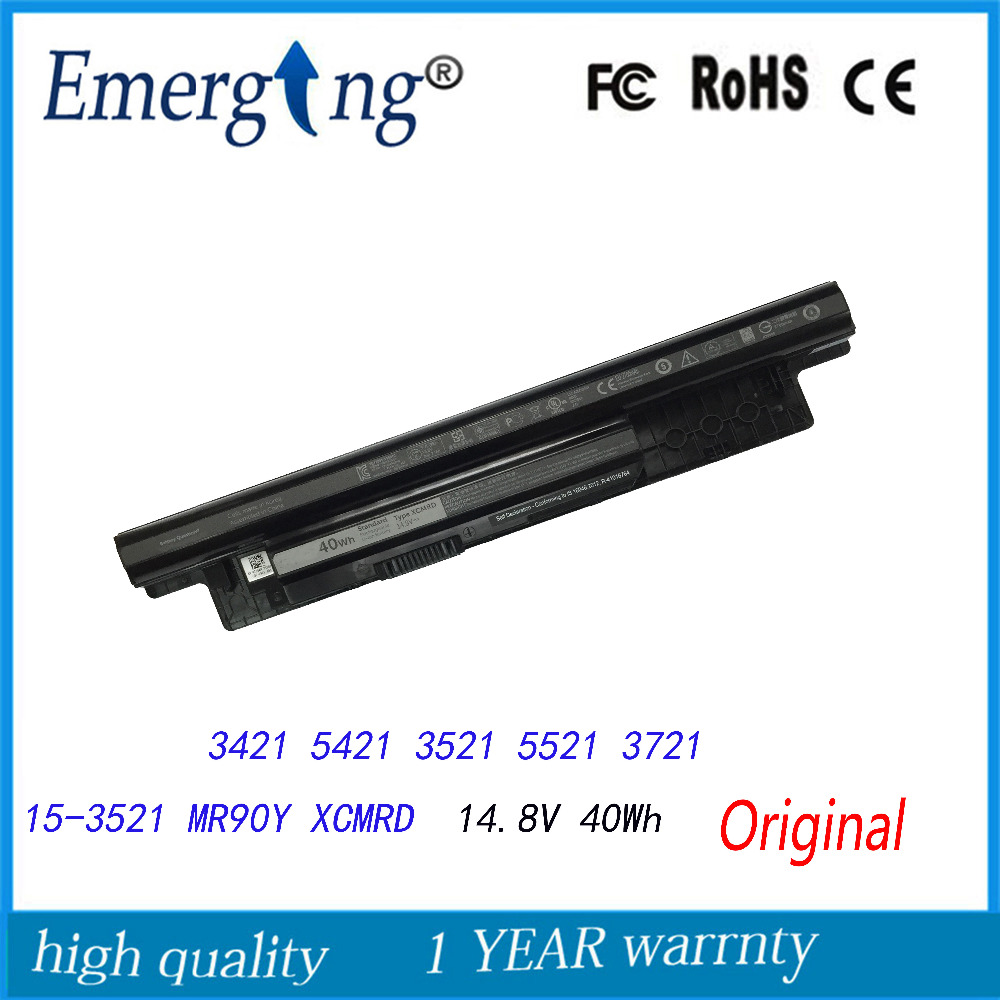 4Cells 14.8V 40Wh New Original Laptop Battery for  Dell Inspiron XCMRD 14-3421 14R-5421 5421 3521 5521 3721 15-3521 3421 series fast shipping 2pk 74 75 xl ink cartridge for hp 74 xl 75 xl ink cartridge with 100% defective replacement