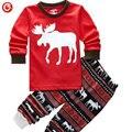2-7Y Малышей Дети Мальчики Полный Рукав Пижамы Установить Животных Щенок Рождество Дети Ночной Рубашке Одежда Для Девочек Детские Pijamas