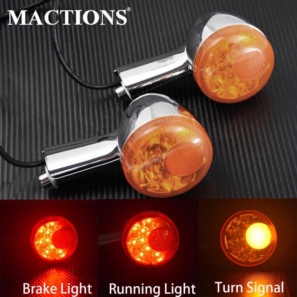 Motorcycle Amber Rear Turn Signal LED Indicator Light Brake Light Taillight Case For Harley Sportster 883 1200  XL 1992-14 15 16