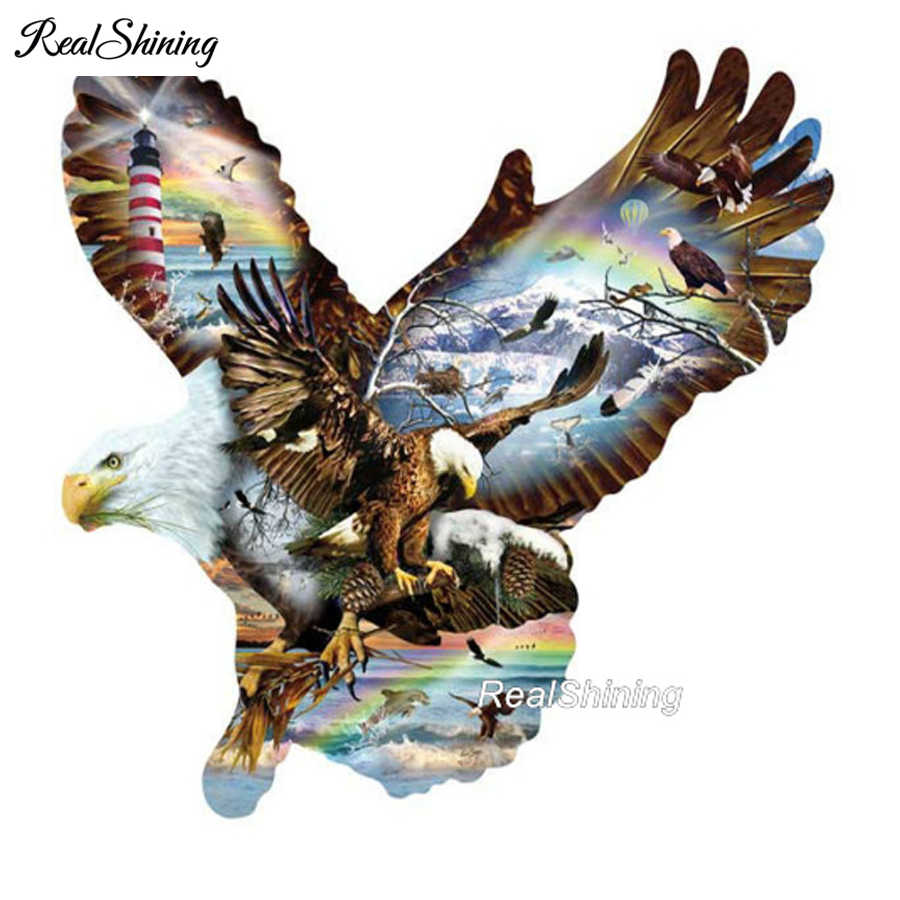 5D DIY Diamond Painting Eagle Cross Stitch Embroidery Mosaic Kit Needlework