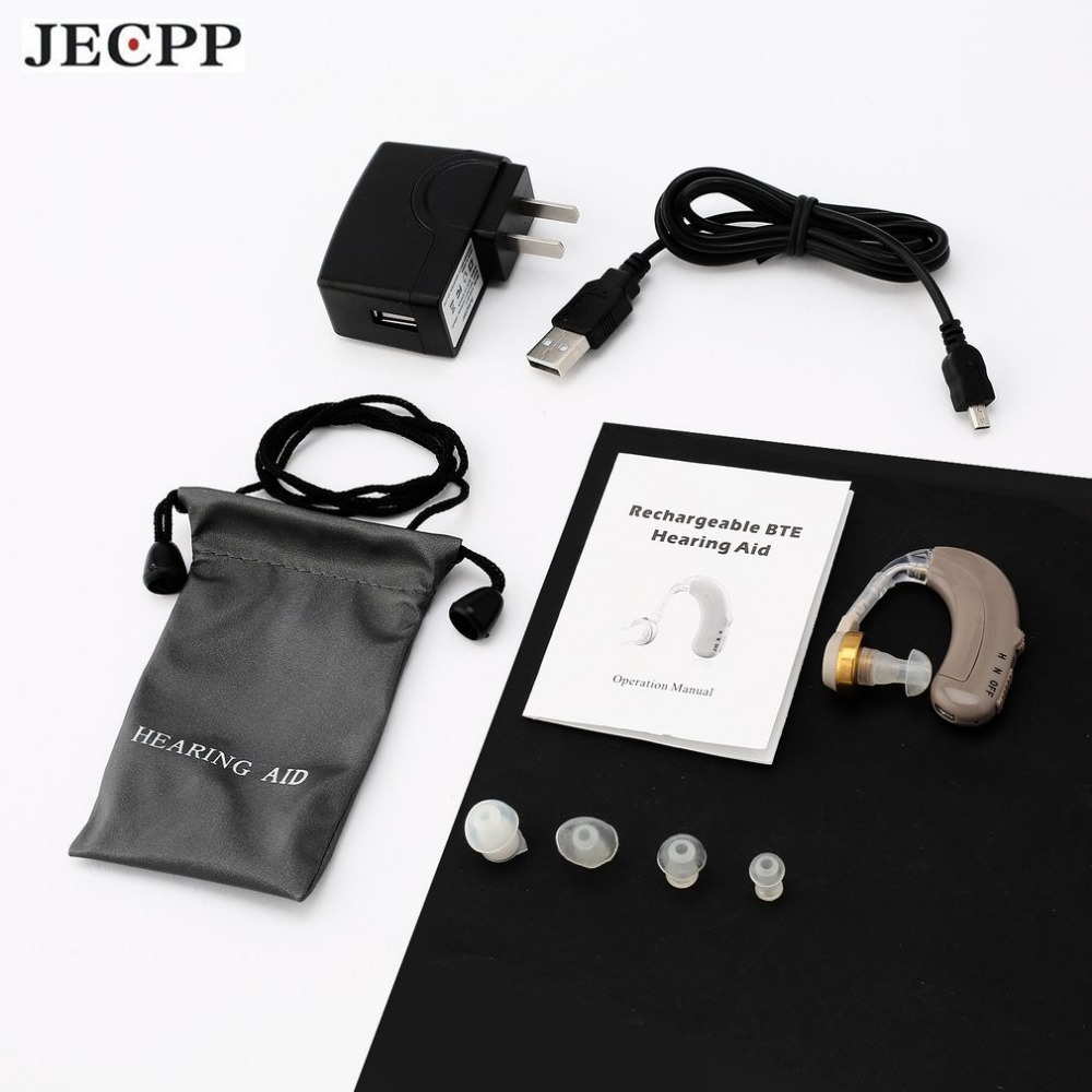 JECPP C-109 Invisible In-ear Hearing Aid Sound Enhancement Device Sound Amplifier with Soft Ear Tips Adjustable Volume Control jecpp c 08 invisible in ear hearing aid sound enhancement digital sound amplifier portable tone adjustable volume control new