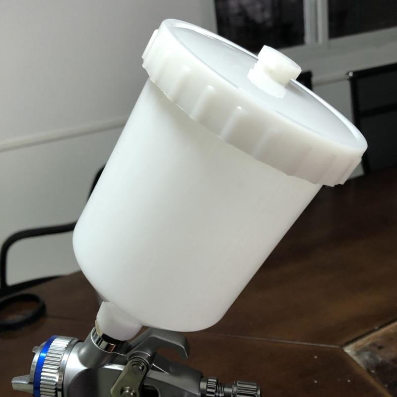 DEWABISS 600ML Spray Paint Gun Pot Pvc M16*1.5 Inner Tooth Universal Pot Airbrush Airless Cup Pot Pneumatic Tool Accessories