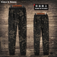 Chinese National Style Vintage Dragon Totem Printing Fashion Joggers New Arrival Quality Oversized Streetwear Pants Men