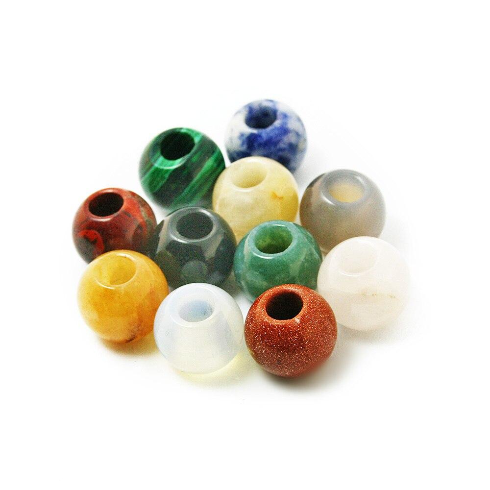 Perles en pierre naturelle, 12x14mm, breloques européennes, pendentifs à grand trou, adapté aux bracelets européens, offre spéciale, fabrication bijoux à bricoler soi-même